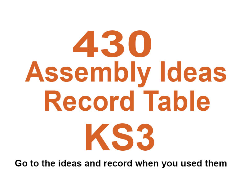 430 KS3 Assembly Videos With Record Table