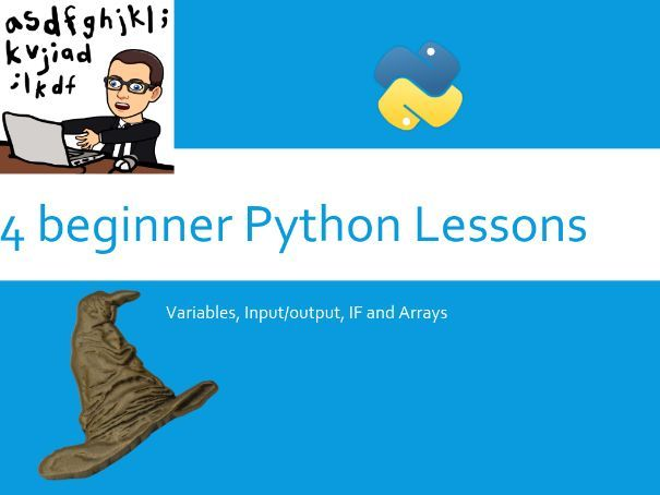 4 beginner python lessons with guides and screenshot presentation