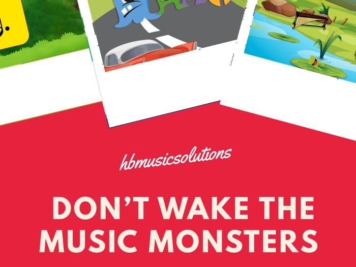 Don't Wake The Music Monsters Distance Learning Digital Game