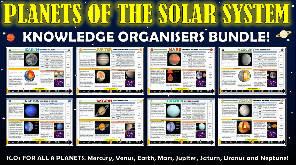 Planets of the Solar System Knowledge Organisers Bundle!
