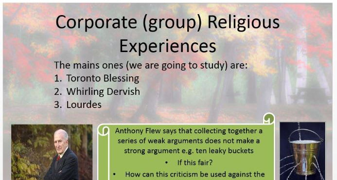 Religious Experience Power Point: R.S New Spec