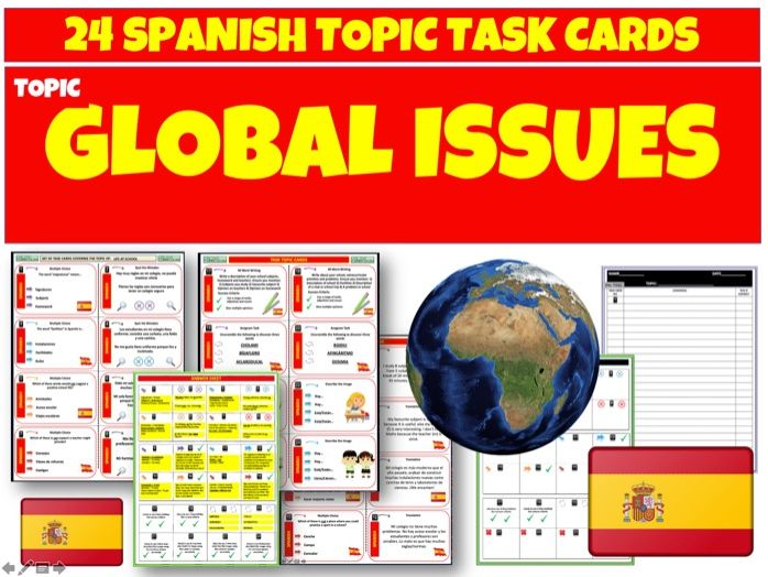 Global Issues - Spanish MFL Task Cards