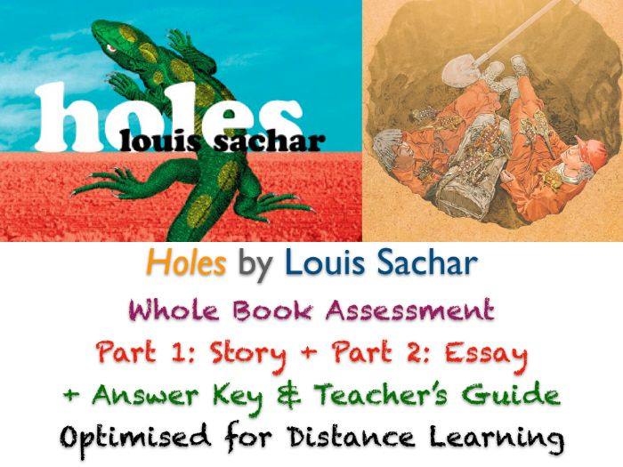 Holes (Louis Sachar) - Final Whole Book TEST + ANSWERS