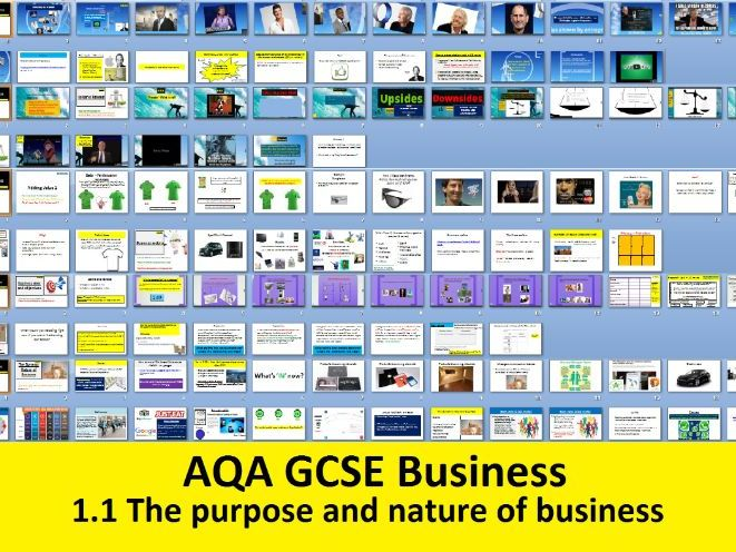 AQA GCSE Business 9-1  - 1.1 The purpose and nature of business