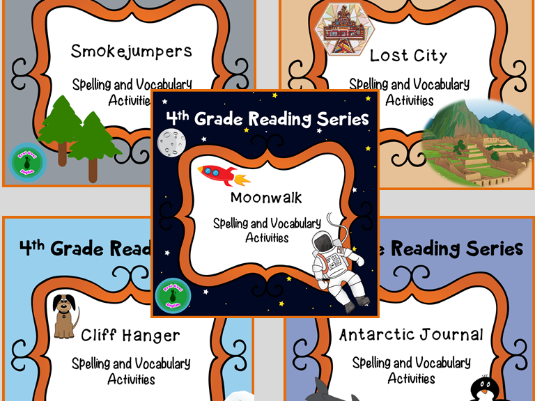 4th Grade Reading Street Unit 5 Spelling and Vocabulary Activities