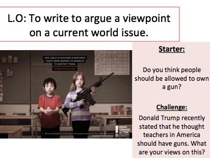 Gun Law - Persuasive Writing