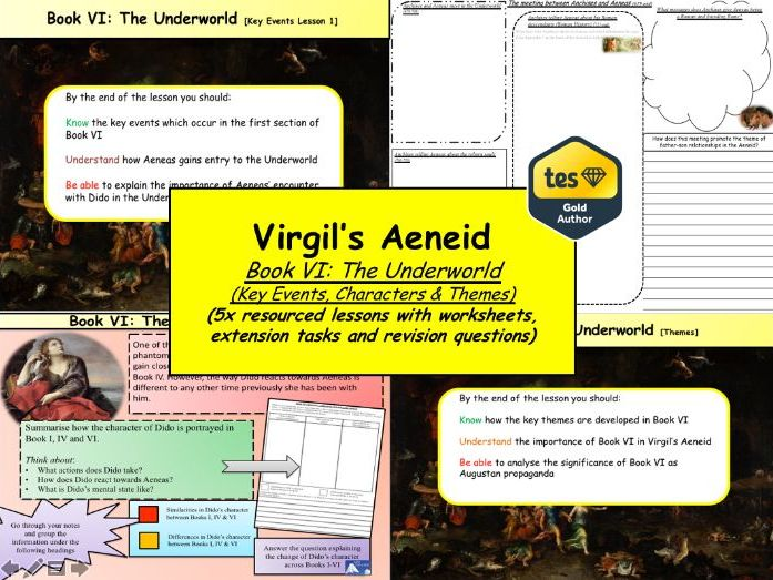 Virgil's Aeneid Book VI: The Underworld (Key Events, Characters & Themes) 5x lessons