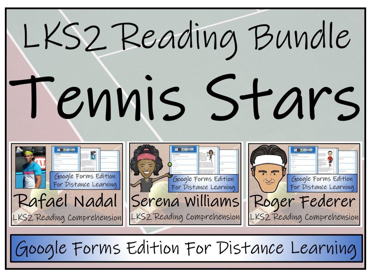 LKS2 Tennis Stars Comprehension & Distance Learning Bundle