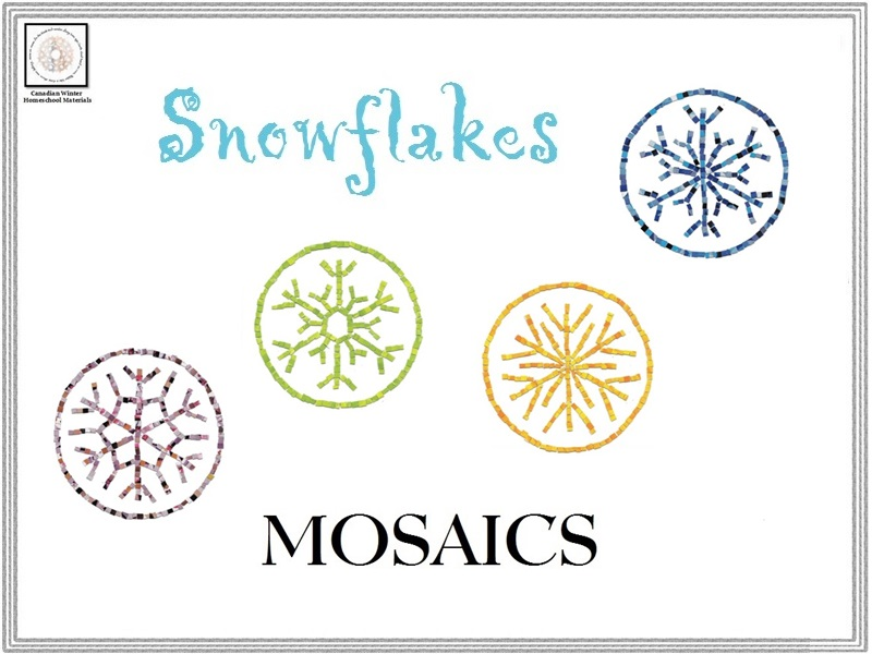 Snowflakes Mosaics Templates & Instructions
