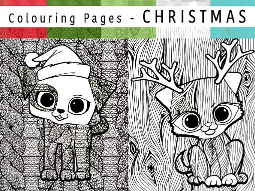 Mindfulness Christmas Colouring Sheets | Pattern Puppies | ColourmeContent - SET 2 - Pattern Pups