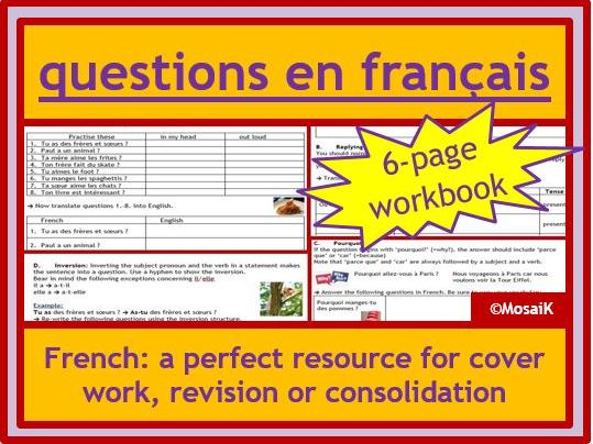 French  questions asking and replying