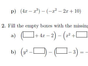 Subtracting polynomials worksheet no 2 (with solutions)