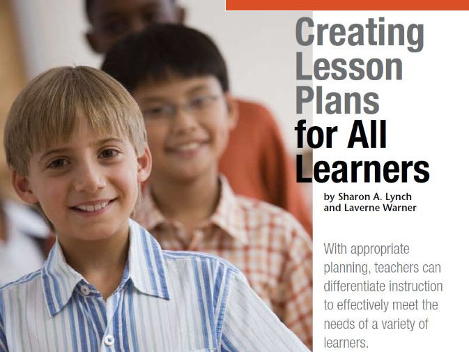 Creating Lesson Plans for All Learners