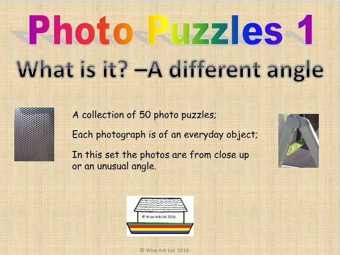 Photo puzzles 1: Close up