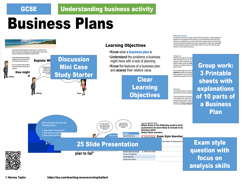 Business Plans - GCSE Business Studies Full Lesson