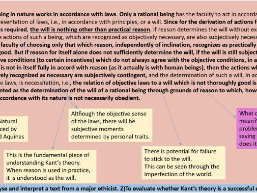2016 Edexcel A level - Text Analysis - Immanuel Kant - Categorical Imperative