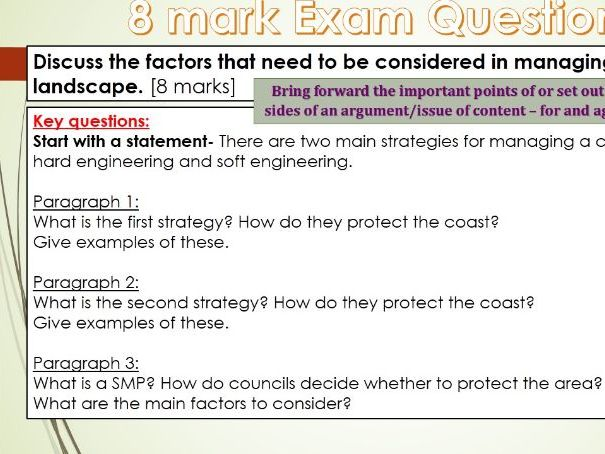 2017-2018 Year 11 OCR B Revision 15) Coasts Revision WITH ANSWERS