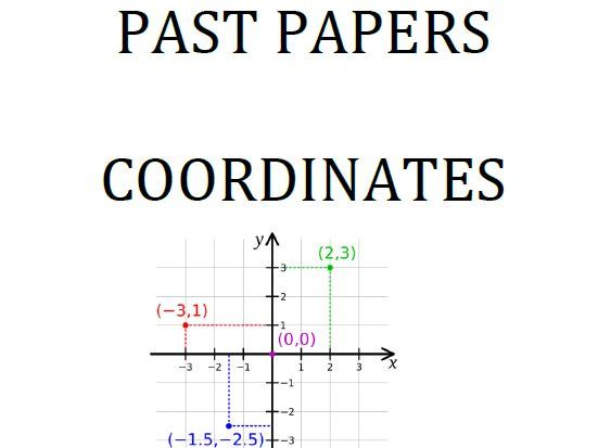 Cambridge Lower Secondary Checkpoint Topical Classified Past Papers-Mathematics-Coordinates