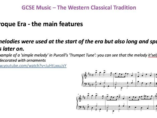 Eduqas GCSE Music -  The Baroque Era  - AoS1: Musical Forms and Devices