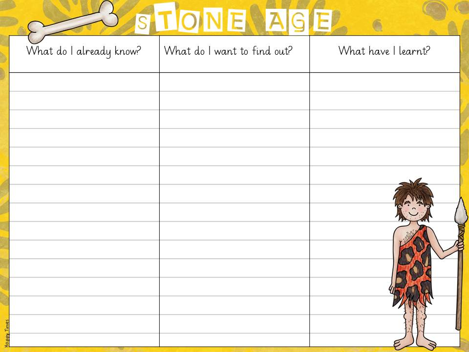Kwl Chart For Stone Age By Hoppytimes Teaching Resources