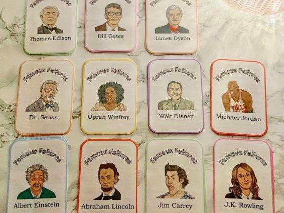 Famous Failures Library Information Cards