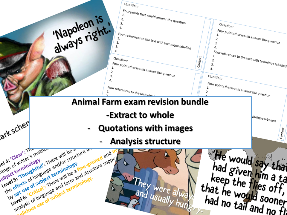 Animal Farm revision bundle  for new specification