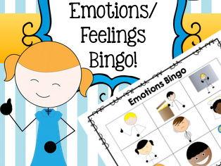 Emotions / Feelings Bingo Game