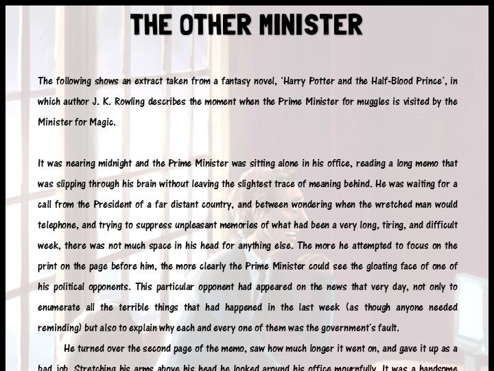 'The Other Minister' extract