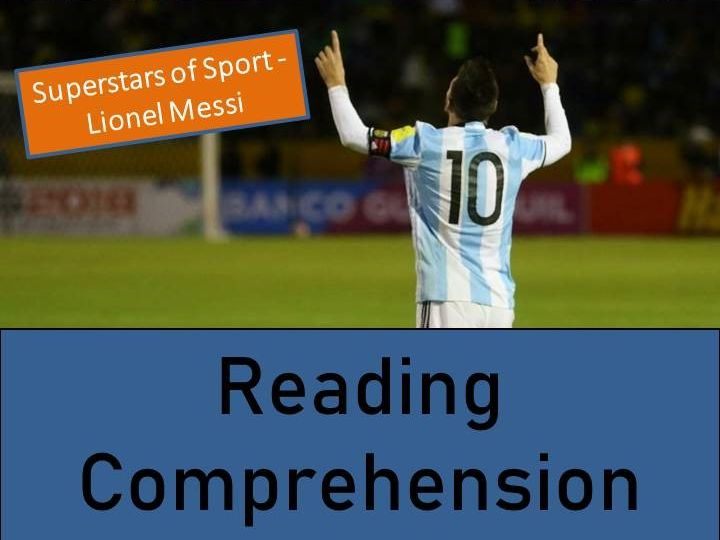 Lionel Messi Reading Comprehension Activity