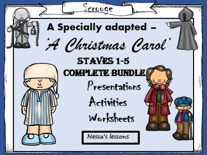 A Christmas Carol - Adapted. Staves 1-5 complete unit