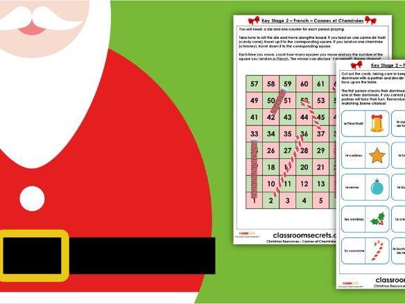 KS2 French Christmas Games Activity