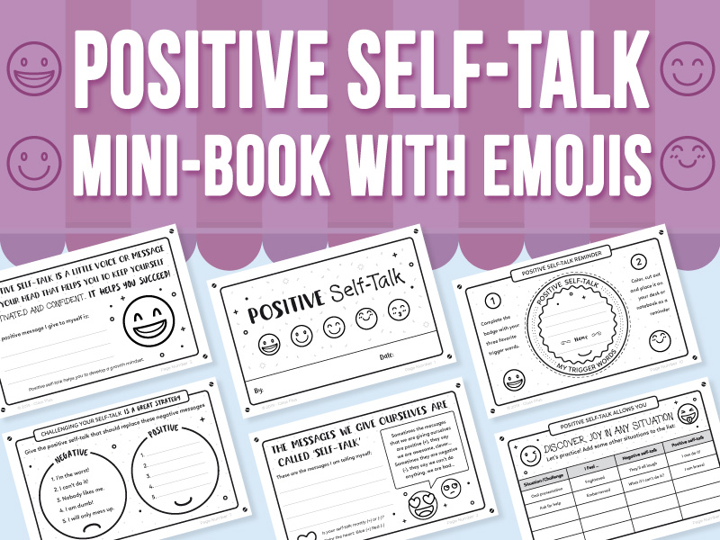 Positive Self-Talk Mini-Book With Emojis