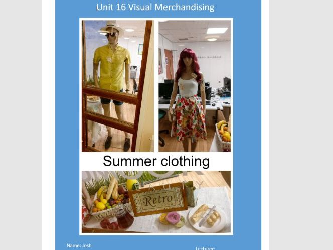 Unit 16 Visual Merchandising Assignment 2 Learning aim C Create successful display for retail outlet