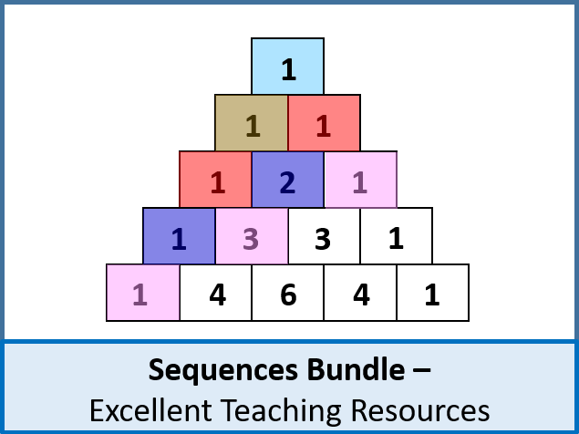 Algebra: Sequences / Series BIG BUNDLE (10 lessons) inc. loads of resources