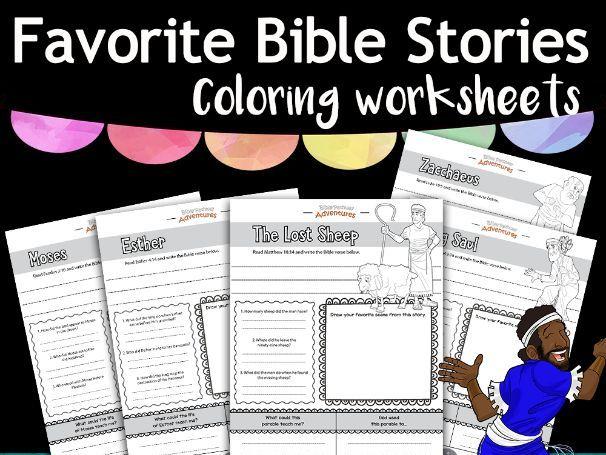 Favorite Bible Stories coloring worksheets FREEBIE