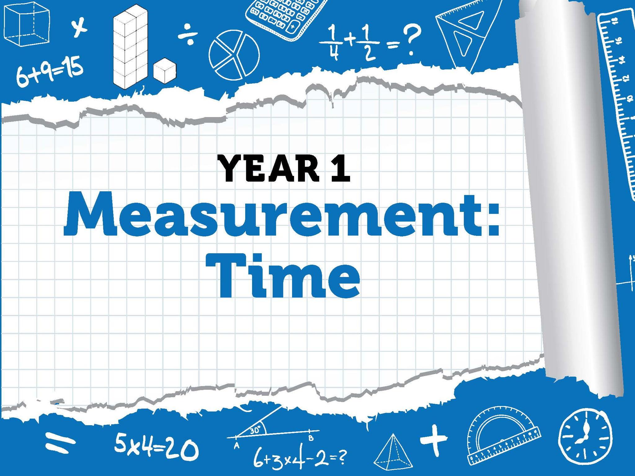 Year 1 - Measurement - Time - Summer - Block 6 - BUNDLE White Rose