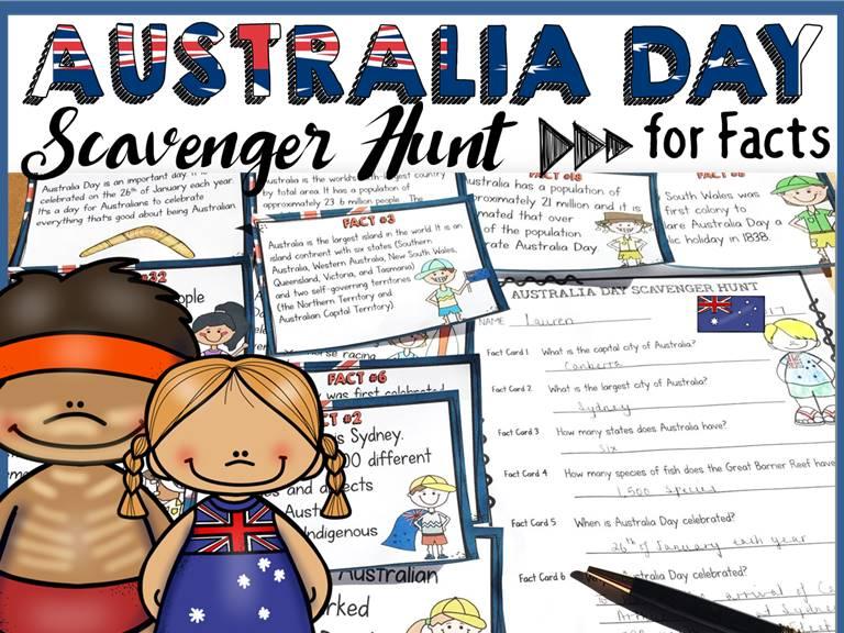 Australia Day Scavenger Hunt