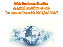 AQA Business Studies A-Level (AS/A2)