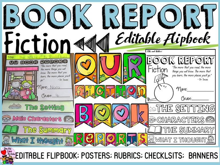 Book Report Fiction By Fortheloveofkids  Teaching Resources  Tes