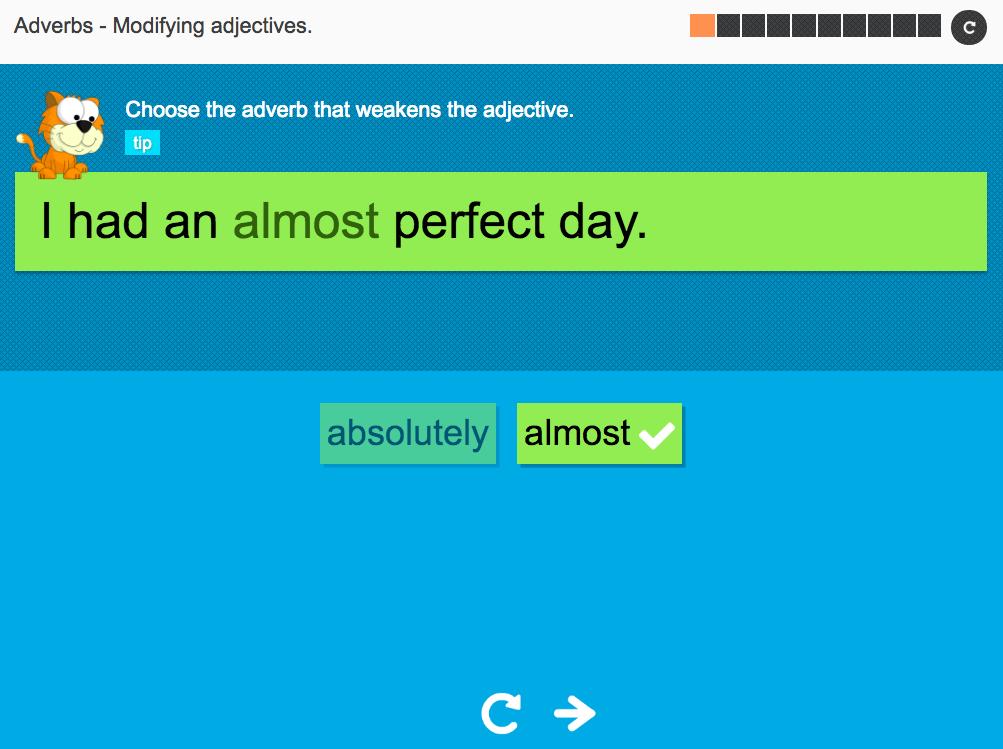 Modifying adjectives - Interactive Activity - KS3 Spag
