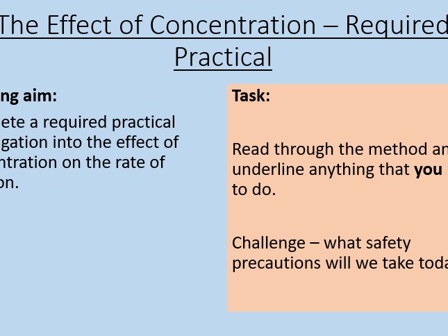 AQA C8.4 The Effect of Concentration