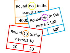 Rounding to Nearest 10, 100, 1000 Clip Cards, Autism, SEND, Special Education