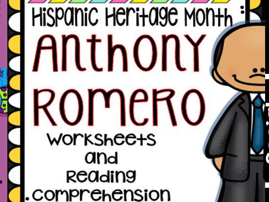 Hispanic Heritage Month - Anthony Romero - Worksheets and Readings (Bilingual)