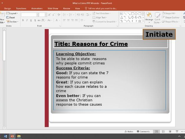 Causes of Crime/ Reasons for Crime