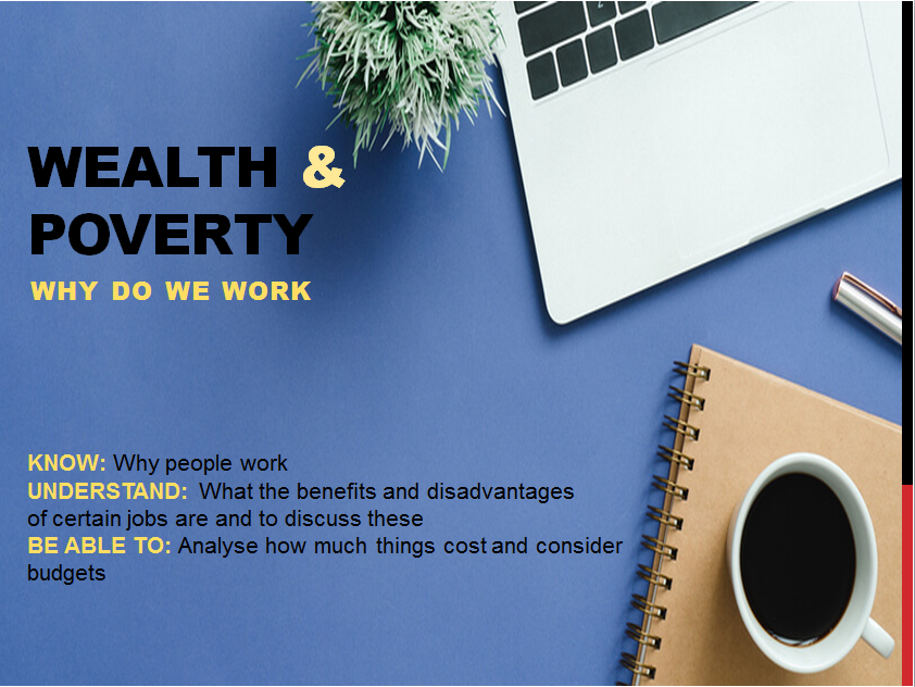 Wealth and Poverty - Why we work powerpoint lesson
