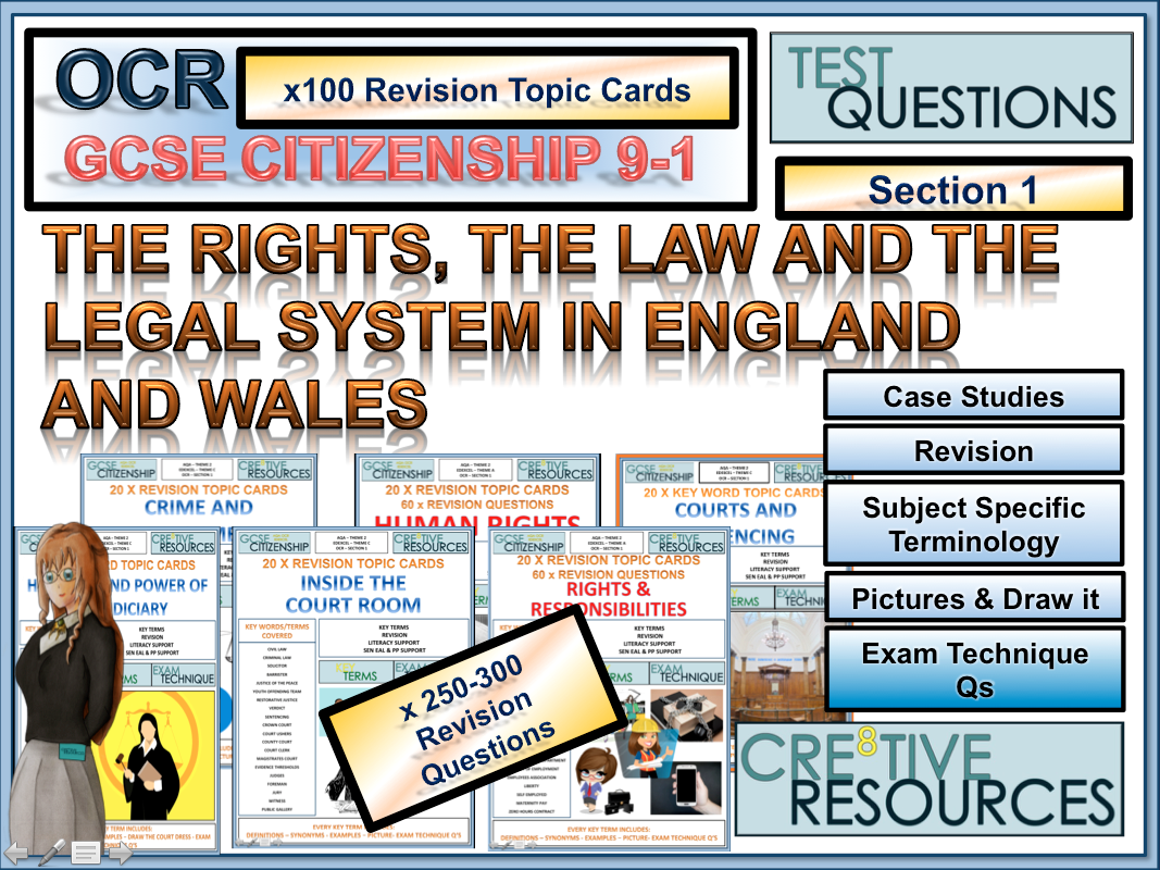 Citizenship GCSE [9-1] - 100+ Revision Topic Cards: OCR Section 1