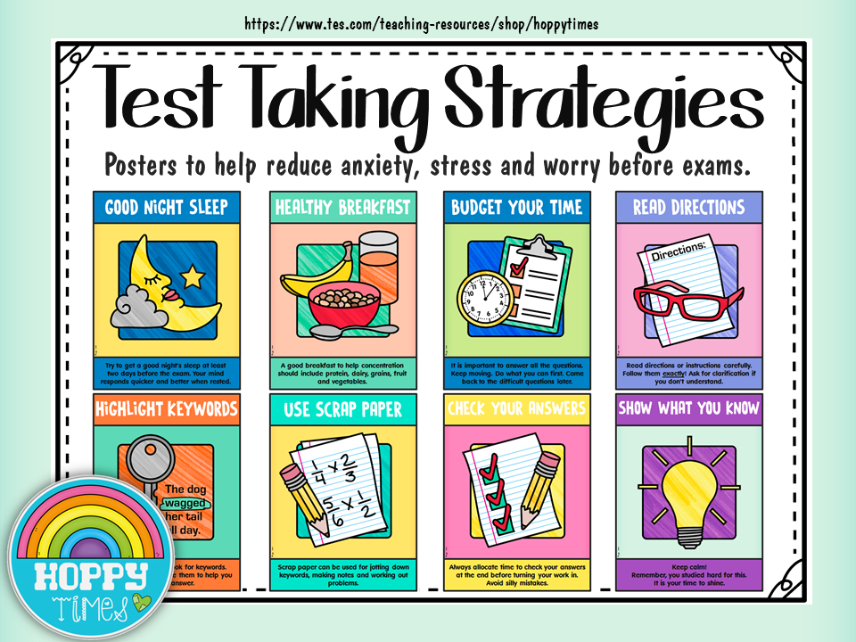 Test Taking Strategies (SATs exam stress)