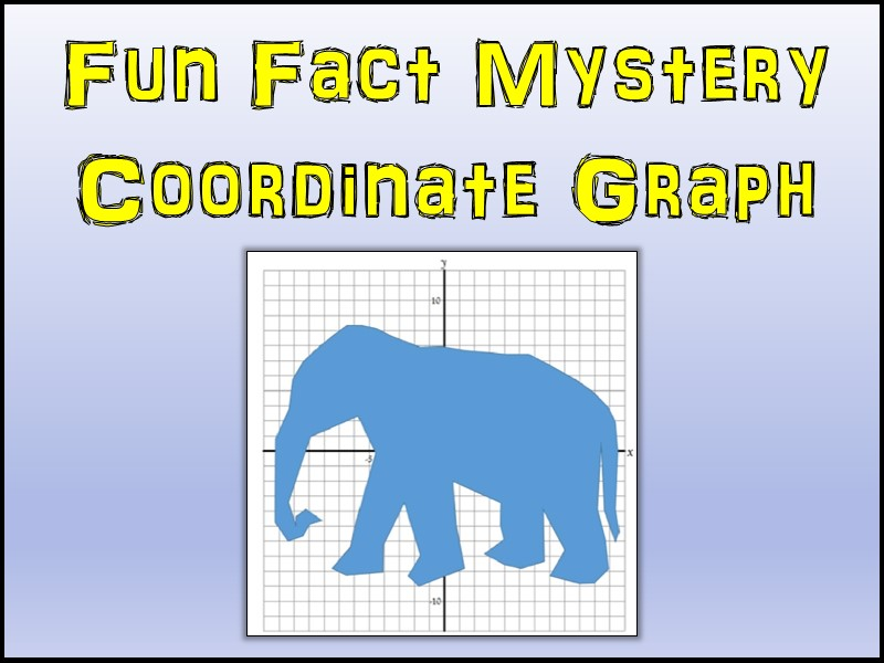 Elephant Mystery Coordinate Graphing Picture