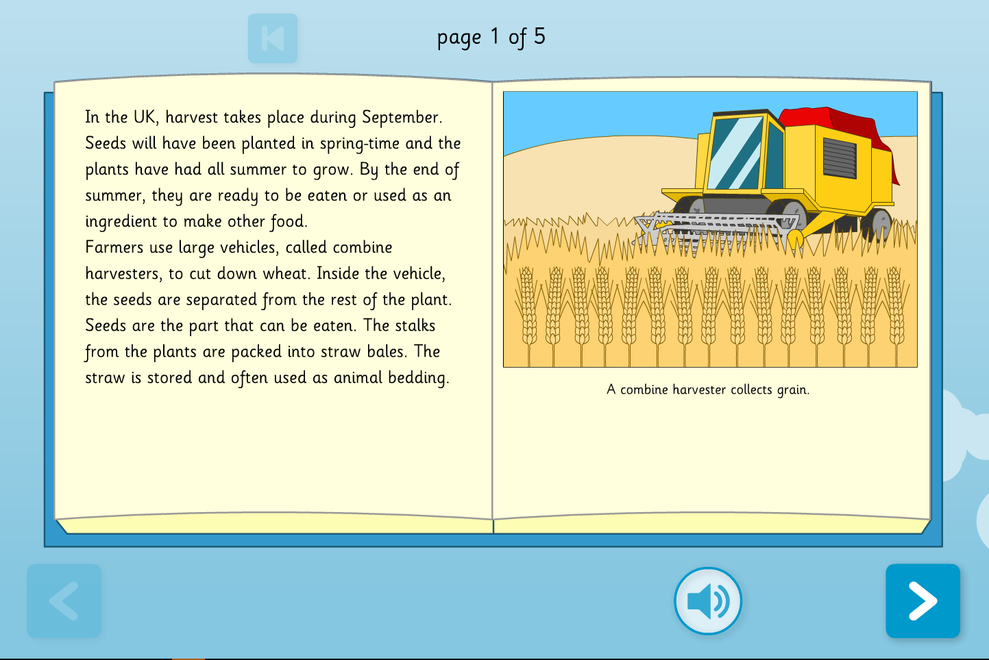 - Harvest Interactive Comprehension Book - Reading Level B - Harvest