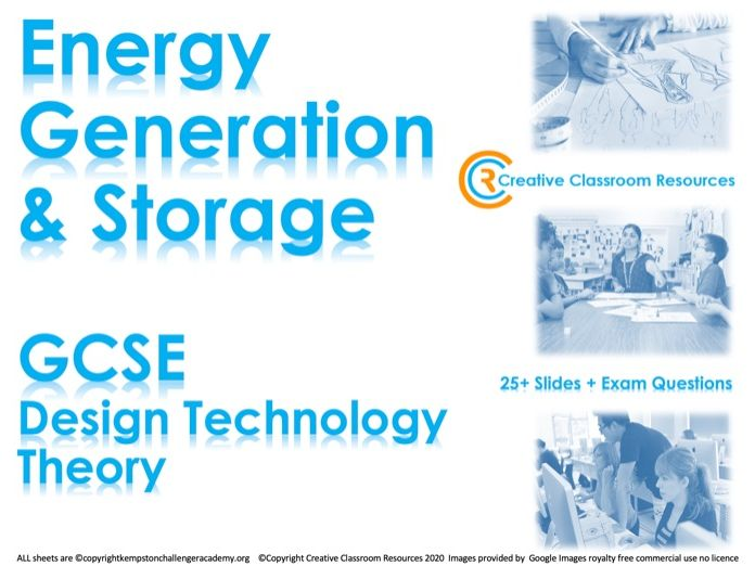 GCSE DT Theory (New Spec) – Energy Generation & Storage
